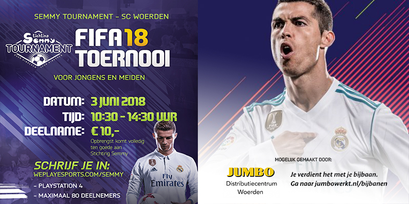 Semmy Tournament presenteert: FIFA 18 Toernooi